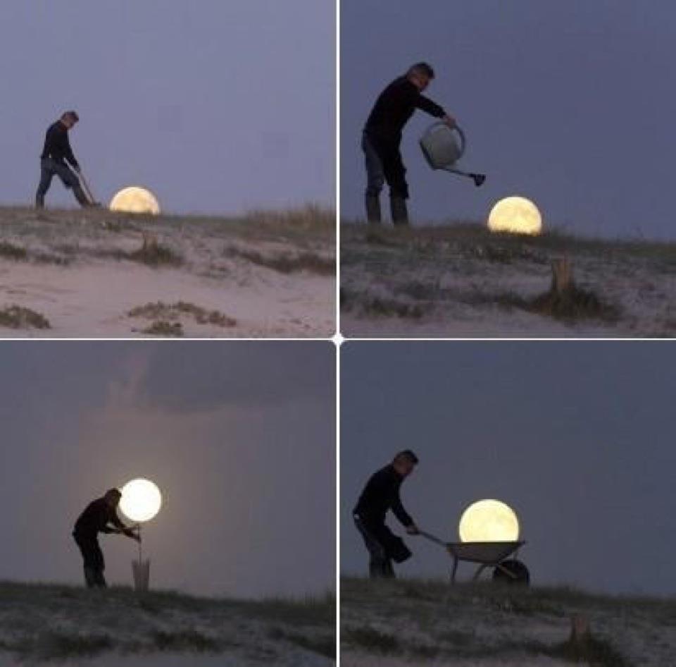 Картинки про луну прикольные