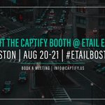 The @Captify team is looking forward to eTail East next month! Book a meeting or drop by the Captify booth to learn how #SearchIntelligence can drive your brand's customer acquisition strategy #eTailBoston #Retail