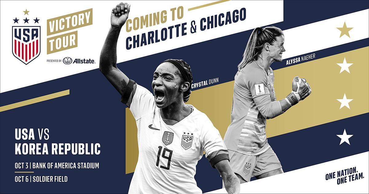U.S. women's national team to play South Korea at Soldier Field on Oct. 6