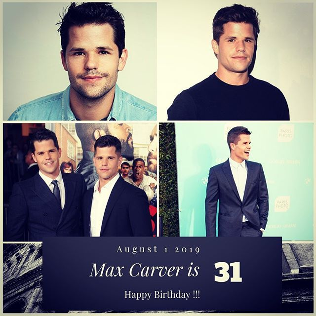 Actor Max Carver turns 31 today !!!    to wish him a happy Birthday!!!
