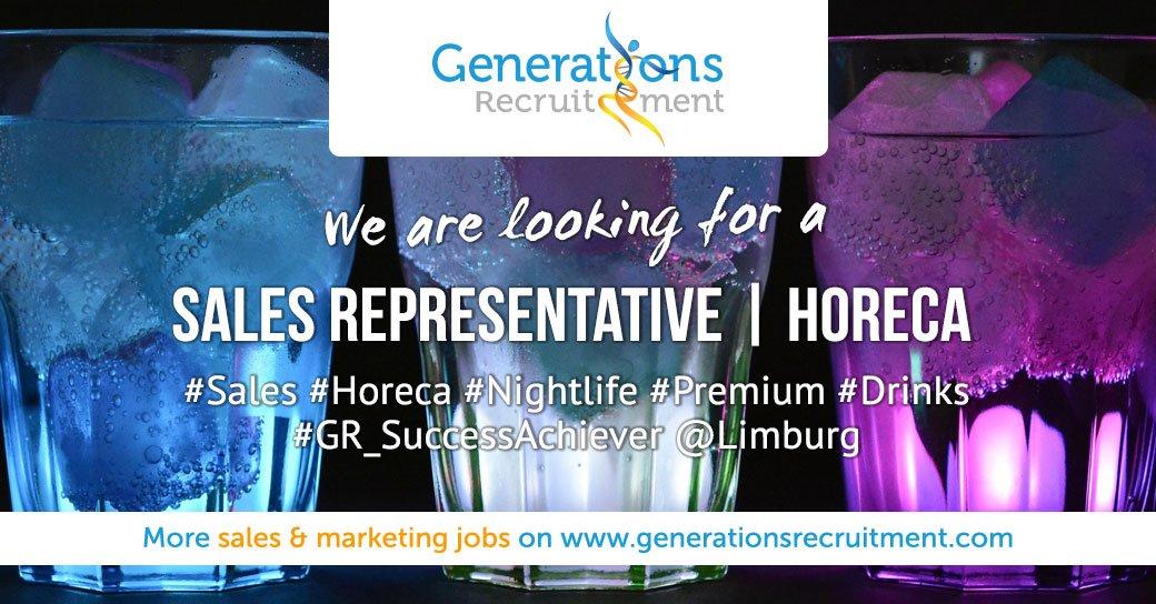 We are looking for a Sales Representative   HORECA & Nightlife Apply Now! http://bit.ly/2G3hqYe  #sales #jobs #horeca #vacancy #drinks #salesjobs #salesrepresentative #generationsrecruitment #gr_successachiever #limburg #hasseltpic.twitter.com/D9CPk6SSPL