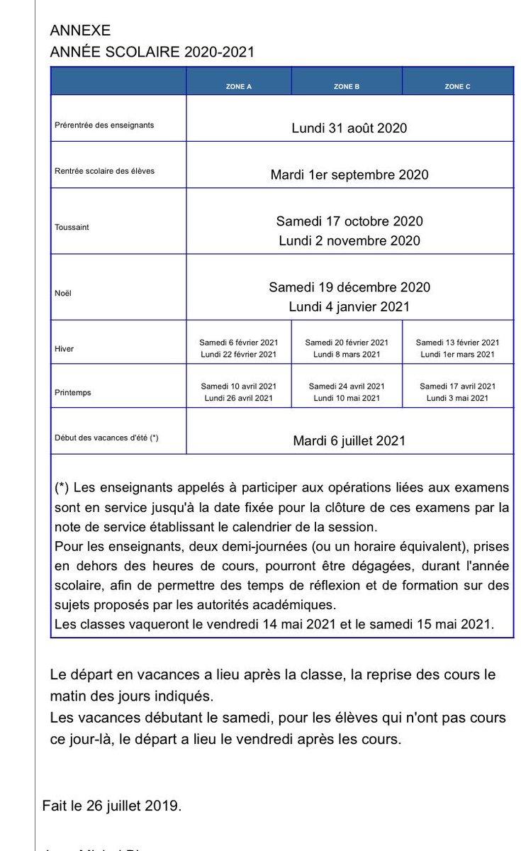 Calendrier Scolaire 2020 Et 2021.Educnat Hashtag On Twitter