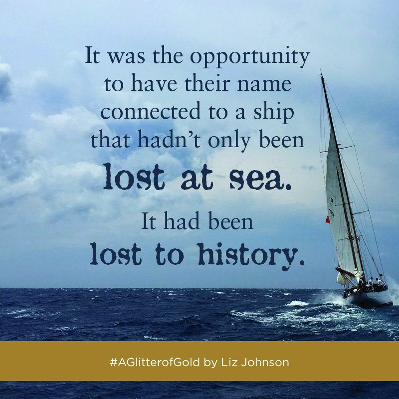 test Twitter Media - The ship had not only been lost at sea, it had been lost to history. But Carter Hale won't rest until he's found the ship he knows is out there. #AGlitterofGold https://t.co/SM46eDem67