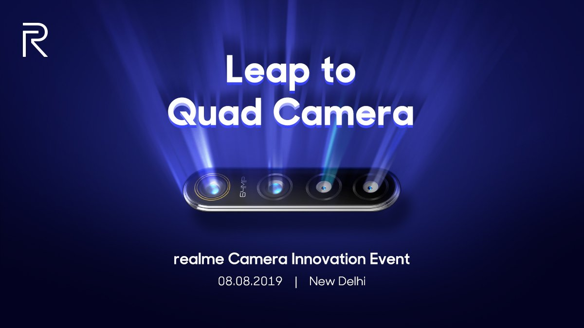 Peluncuran Quad Kamera Realme di India.