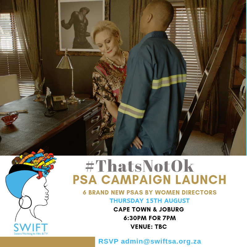 6 brand new #ThatsNotOk short films by 6 new directors. Join us on 15th August in Johannesburg and Cape Town. Venues TBC #FemaleFilmmakerFriday