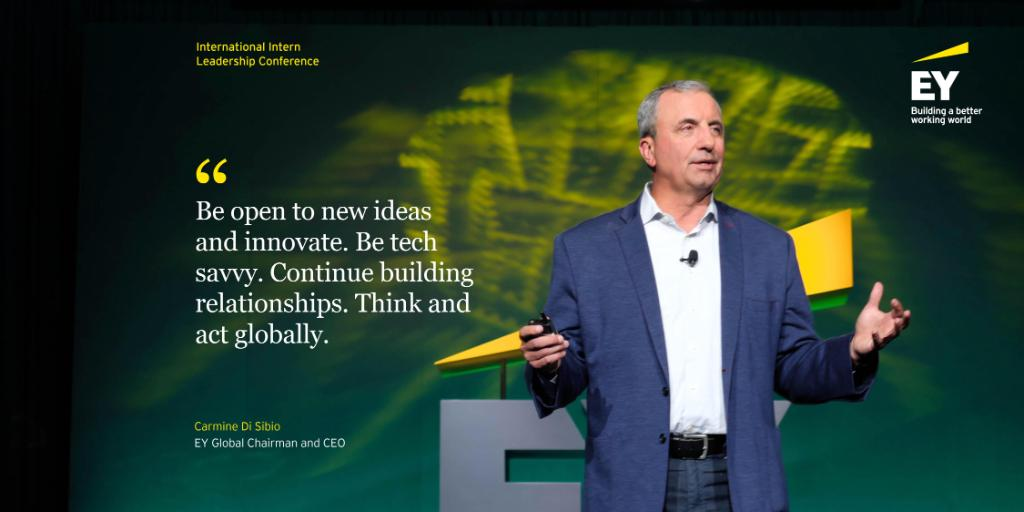 3400+ EY interns representing 30+ countries celebrated an important career milestone in Orlando this week - the conclusion of their internship. Our Global Chairman and CEO @Carmine_DiSibio shared his pieces of advice. #EYIntern #BetterWorkingWorld https://t.co/un88jIwLpX