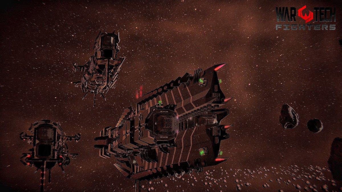 A war in space... Game: #WarTech       Dev: @blowfishstudios   Tags: #VGPUnite #VirtualPhotography #VPInspire #MechaRobots #GameCaptures #Gaming #BlowfishGamespic.twitter.com/rVDDkx1JRS