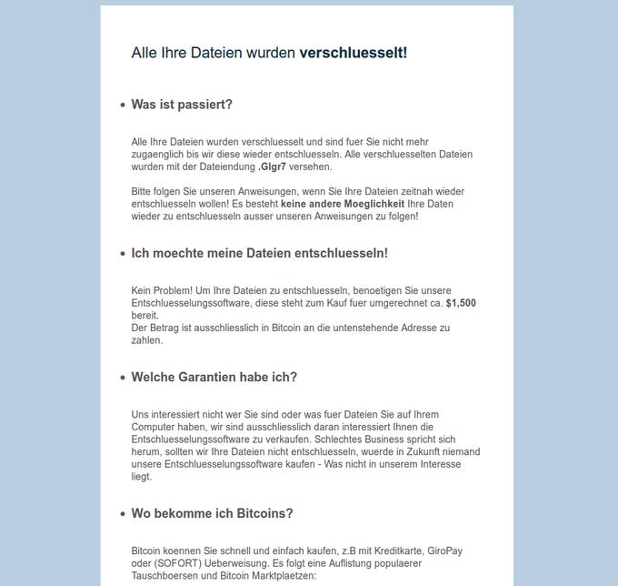 GermanWiper-Meldung
