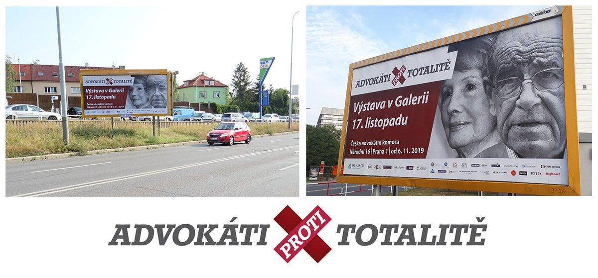 """test Twitter Media - (Ne)zapomenuté hrdiny české advokacie představuje ČAK v unikátním projektu k 30. výročí sametové revoluce https://t.co/gsvICuWnTG. Jeho součástí je i výstava #Advokatiprotitotalite, na kterou z pražských billboardů """"zvou"""" legendy české advokacie Dagmar Burešová a Otakar Motejl. https://t.co/nBv6E5Dk76"""