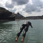 Enjoyed doing my swim in Bude's 91m sea pool this morning ☀️🌊 #TORQFuelled