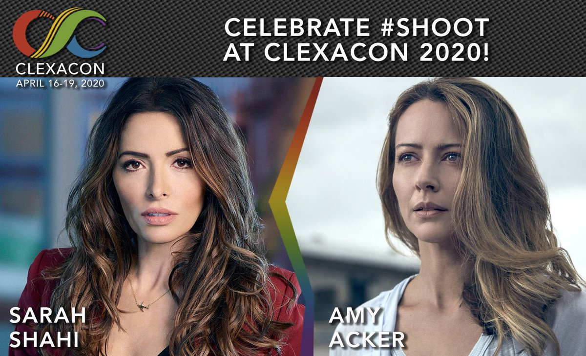 No strangers to ClexaCon, @AmyAcker and @sarahshahi are back for their third #Shoot reunion at #ClexaCon2020! #PersonOfInterest #POI #Root #Shaw  Lock down your priority seating with VIP tickets today! On sale in just 30 minutes! https://t.co/Zj7cE5H9Rh https://t.co/9oxokZ5TCM