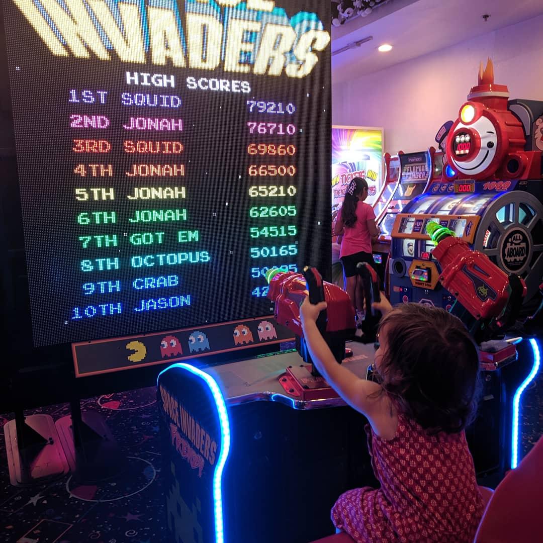 Baby boot camp! #gamergirl #gamerforlife #Retro #arcade
