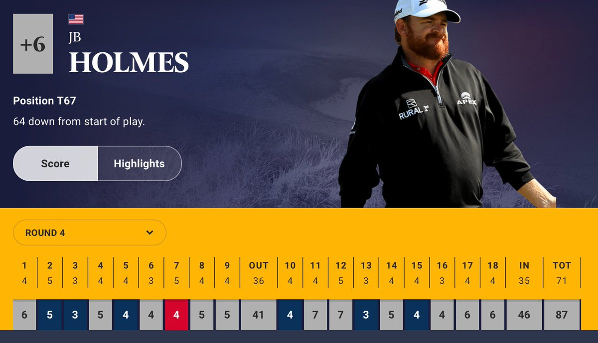 JB Holmes Had 1 Of The Worst Final Rounds In Major History