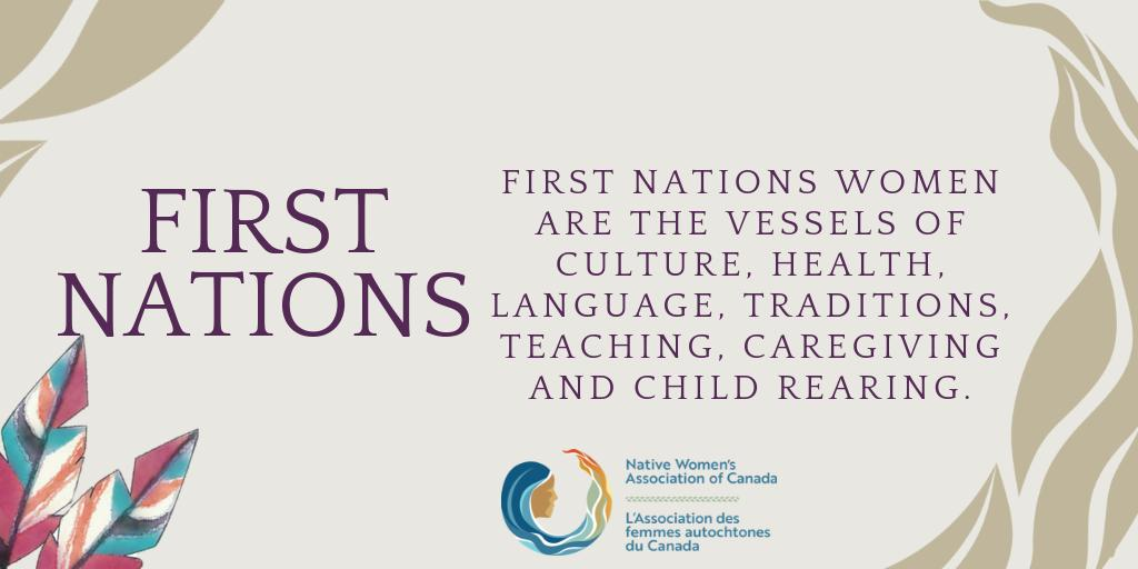 Traditionally, First Nations women were key decision-makers and advisers. When the federal government imposed the band structure as the new method of Indigenous governance, women's key roles were eradicated. Today, we must work to regain those positions of authority and respect.