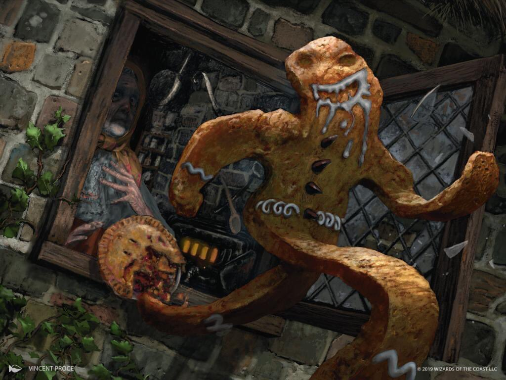 "A spoiler from last night's reveal at #sdcc & @wizards_magic for #Mtg's stunning new set Throne of Eldraine. Where ""Camelot meets Fairytale""  here is the art for my Gingerbread Man. #MTGEldraine<br>http://pic.twitter.com/fx4fgBRZB4"
