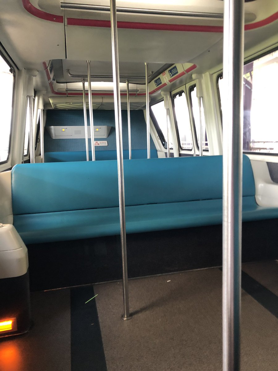Not sure if this is awesome or pathetic...but I've got my own monorail car..and it's the middle of the day.  #monorail #poly #TTC #WaltDisneyWorld