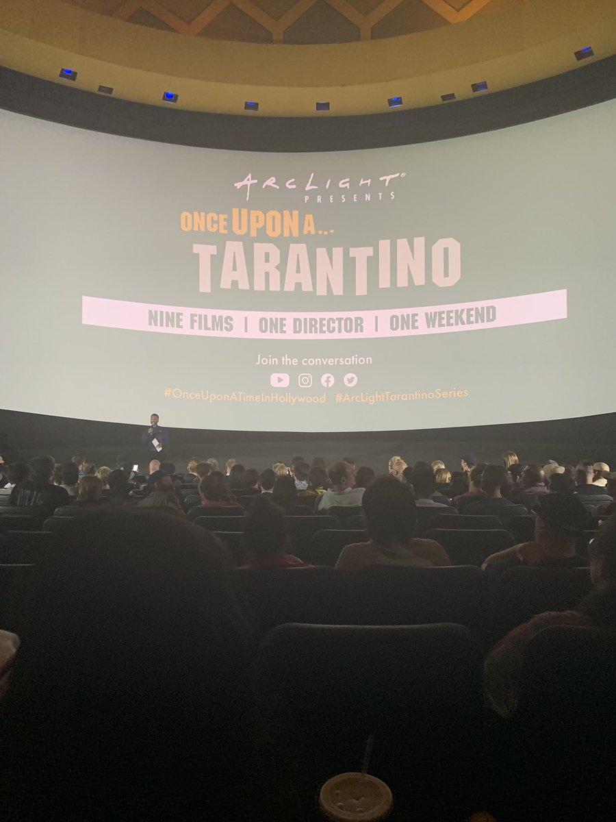In 75mm - at arclight - literally the most flawless movie I've seen in so many many years . So proud of Quentin. Flawless , not a bum note - Leonardo worked so damm hard was so perfect - Pitt too , they are flawlessmagnificent, it's a gorgeous love letter to California.