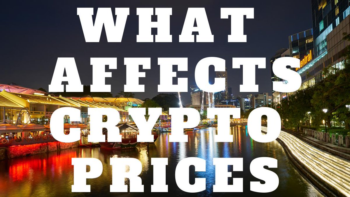 Wondering what affects #crypto prices? Find out here: https://t.co/iiGxie7xMB https://t.co/oOJ2xmDppk
