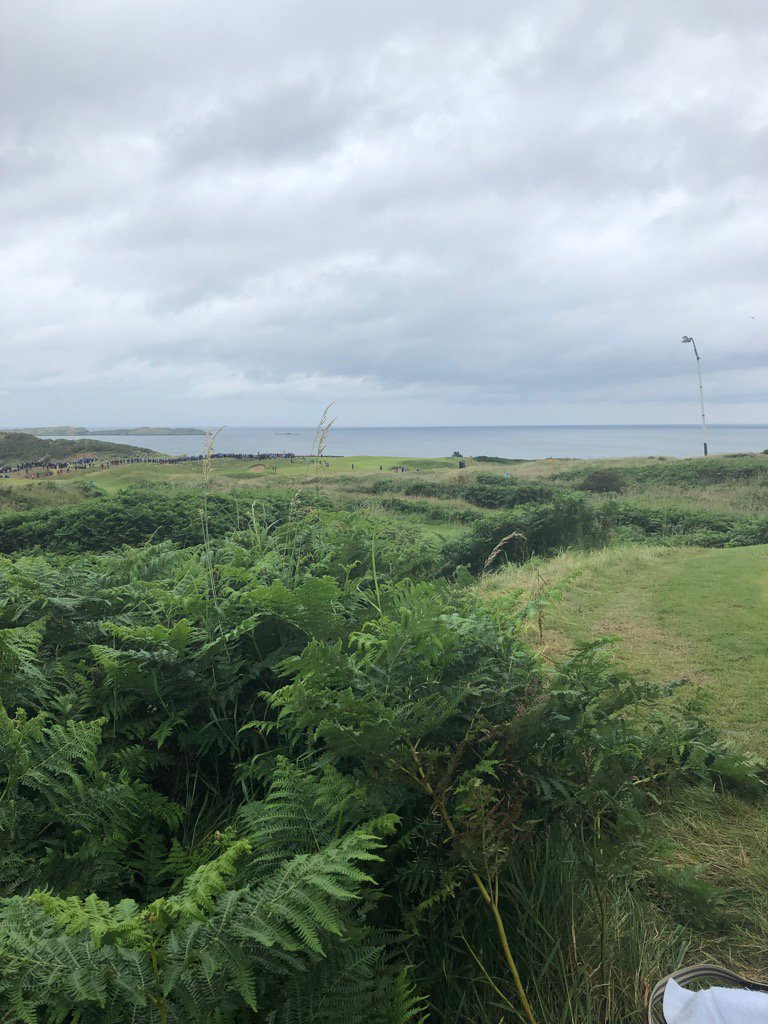 The 5th at Royal Portrush. Waiting for Westwood and Willett to tee off