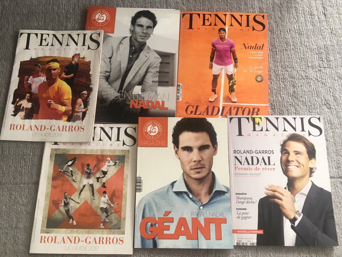 Doing a tidy up and came across these beauties 😍#RafaelNadal