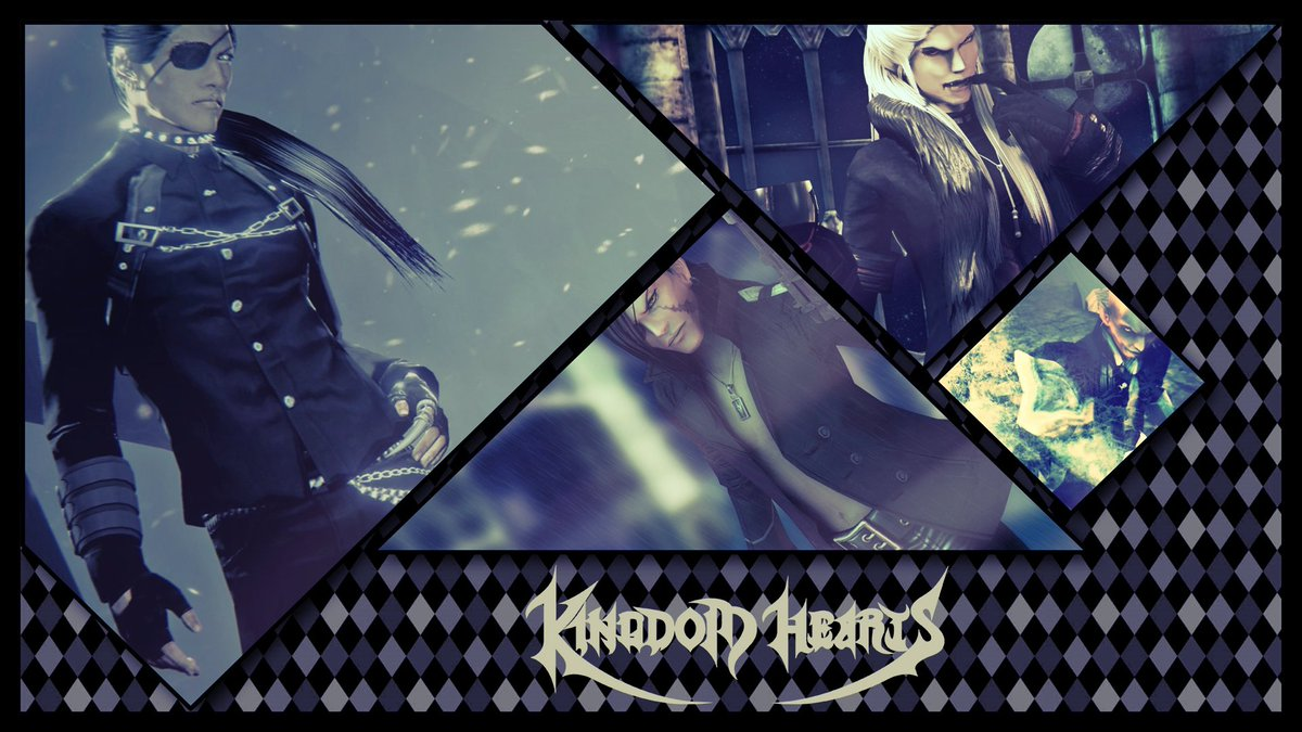 And here another collage of some of my old renders, made in Phototastic Collage ^^  DeviantArt: https://www.deviantart.com/lexakiness/art/Old-Renders-Collage-806521974…  #KingdomHearts #kh #organizationxiii #xigbar #braig #luxu #xemnas #xehanort #ventus #collage #wallpaper