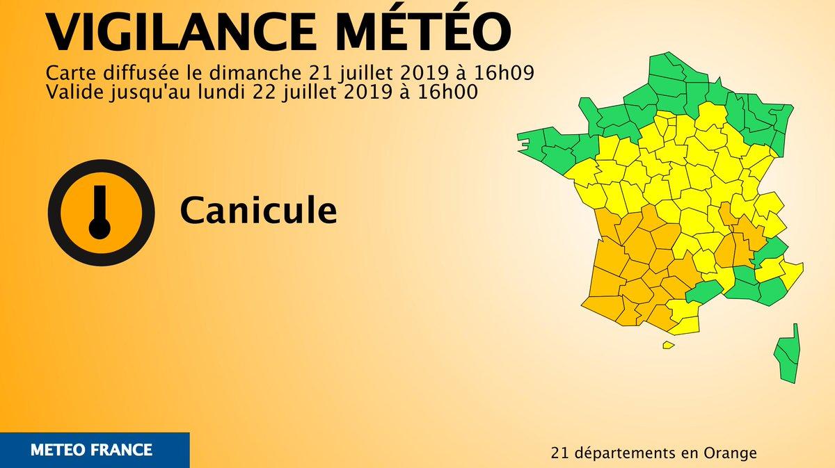 🔶 21 dpts en #vigilanceOrangeRestez informés sur http://vigilance.meteofrance.com/