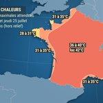 Image for the Tweet beginning: Une vague de #chaleur s'amorcera