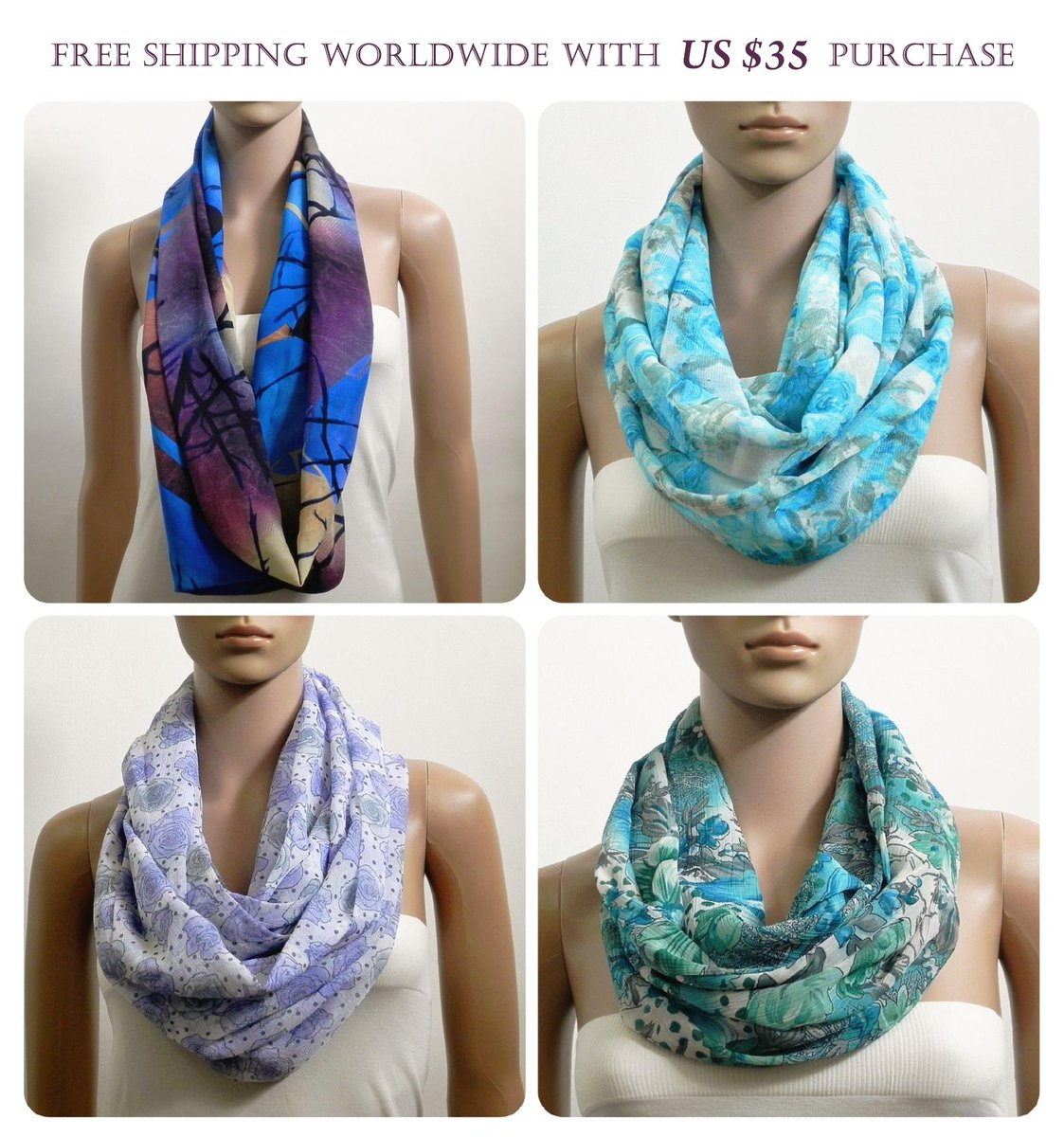 https://www.etsy.com/shop/ArtistryAllure/items?section_id=22554544 … Buy Infinity Scarves Staring from US $14 #handmade #etsyfinds #etsymntt #etsyshop #etsy #etsygifts #giftideas #shopsmall #handmadebyme #gift #gifts #Giftsforher #EtsySocial #handmadegifts #giftidea #giftsforher #shopping #giftidea #giftforher #FreeShipping