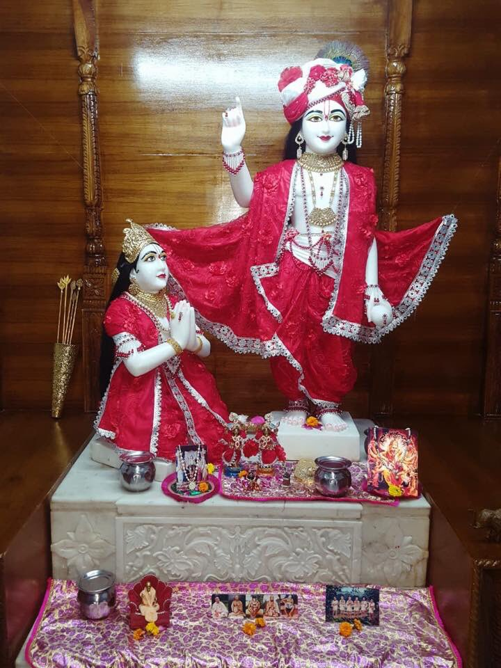 #Arjun #Krishna #deities(called as #Arjun #Varshney #Krishna) #Darshan,  #Iskcon #Aligarh #Gita #Gyan #Mandir, #Harduaganj. 21.7.19.  Photography courtesy of Mannraj Prabhuji. #APNA #SAHAYOGI #PREMI #PARIVAR. #अपना #सहयोगी #प्रेमी #परिवार |