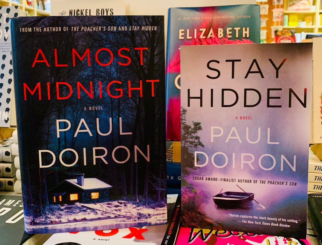 Two good bits of @pauldoiron news: latest Mike Bowditch book to the left, and the previous book in the series, now in paperback, to the right!  indiebookstore #rocklandmaine #downtownrockland #shoplocal #maineauthor #pauldoiron #mikebowditch  #thriller #crime #mainemystery