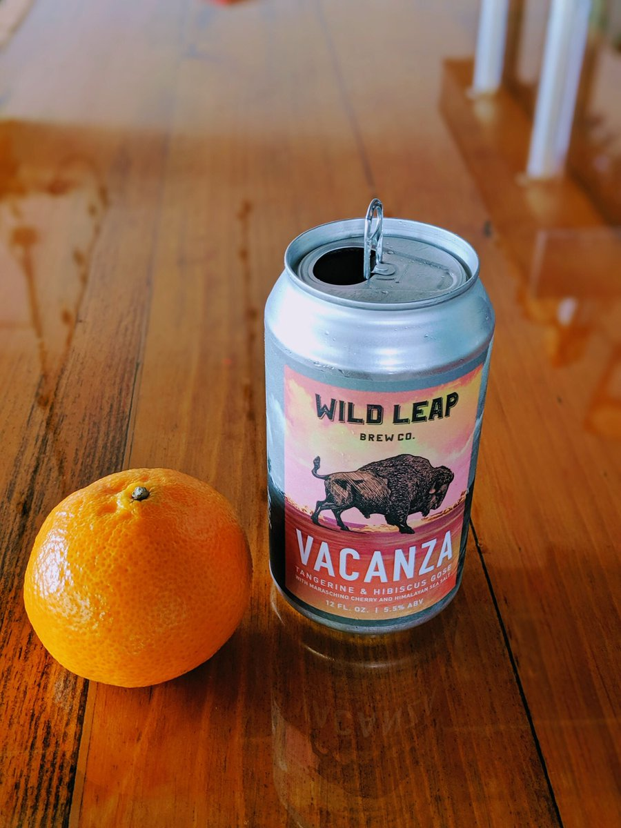Did you know that Gose style beers are traditionally brewed with salt? Our Vacanza Tangerine is brewed with fresh tangerines, hibiscus, maraschino cherries, and pink Himalayan salt, for the perfect tart, clean brew. #wildleap #gabeer #craftbeer