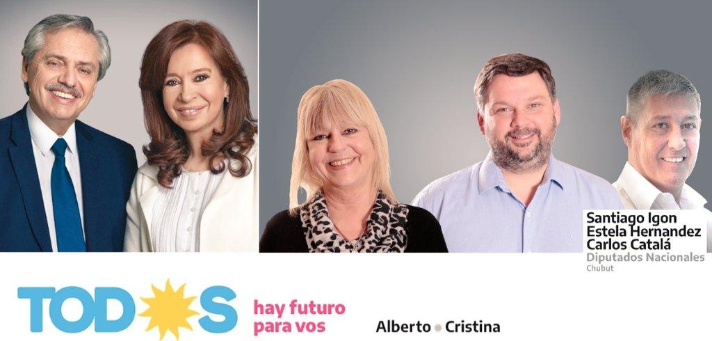 Con Alberto, Cristina, Santiago, Estela, Carlos y #Todes #HayFuturoParaVos  #BuenDomingo  #Madryn #Chubut