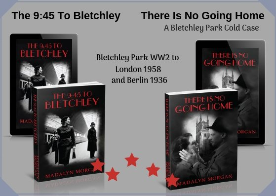 THE 9:45 TO BLETCHLEY Book four in The Dudley Sisters' #Saga https://www.amazon.co.uk/dp/B01GEVW3Z8/  #Bletchley #Traitors #sabotage #love THERE IS NO GOING HOME - A stand-alone sequel.  Meet Ena & Henry again. https://www.amazon.co.uk/dp/B07SHTGMFF/  #spy #thriller #suspence  #Kindle #KindleUnlimited #paperback