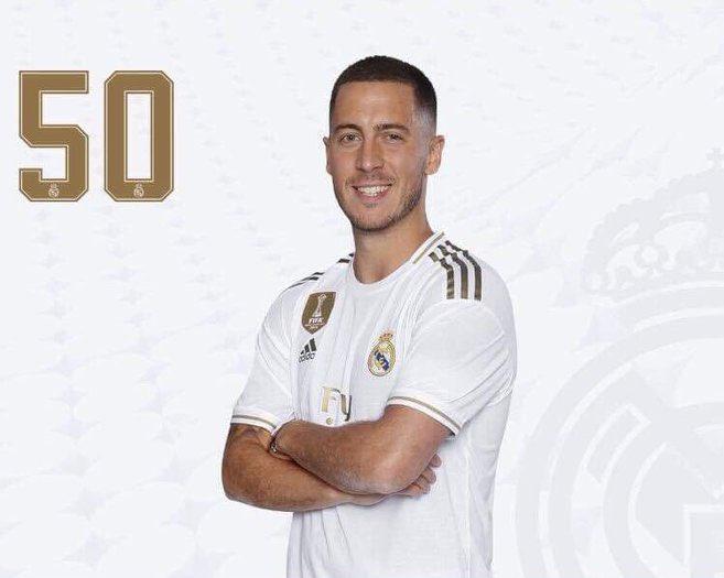 D'après @marca, Eden Hazard portait cette nuit le numéro 50 afin de rendre hommage au 50ème anniversaire du premier pas de l'homme sur la lune. 🌘  Le Belge devra choisir un numéro situé entre le 1 et le 25 comme le demande le règlement de La Liga.