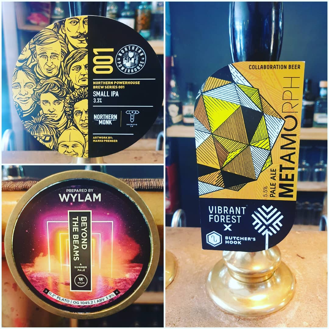 Fresh beers for Sunday Funday!  Some lovely pales to be had,  including the only Powerhouse beer to be casked, @NMBCo x @trackbrewco, small IPA. Bursting with hops and tasting far beyond its ABV!  #craftbeer #realale  #cask #pursuitofhoppiness #bar #bartender #exeter #devon