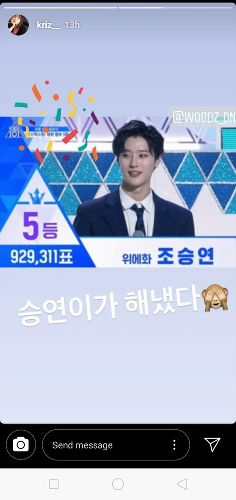 RT @MasterChefYibo: Kriz also congratulated Seungyoun! Seungyoun got featured in her song 'Bad' https://t.co/883U42Ogvo