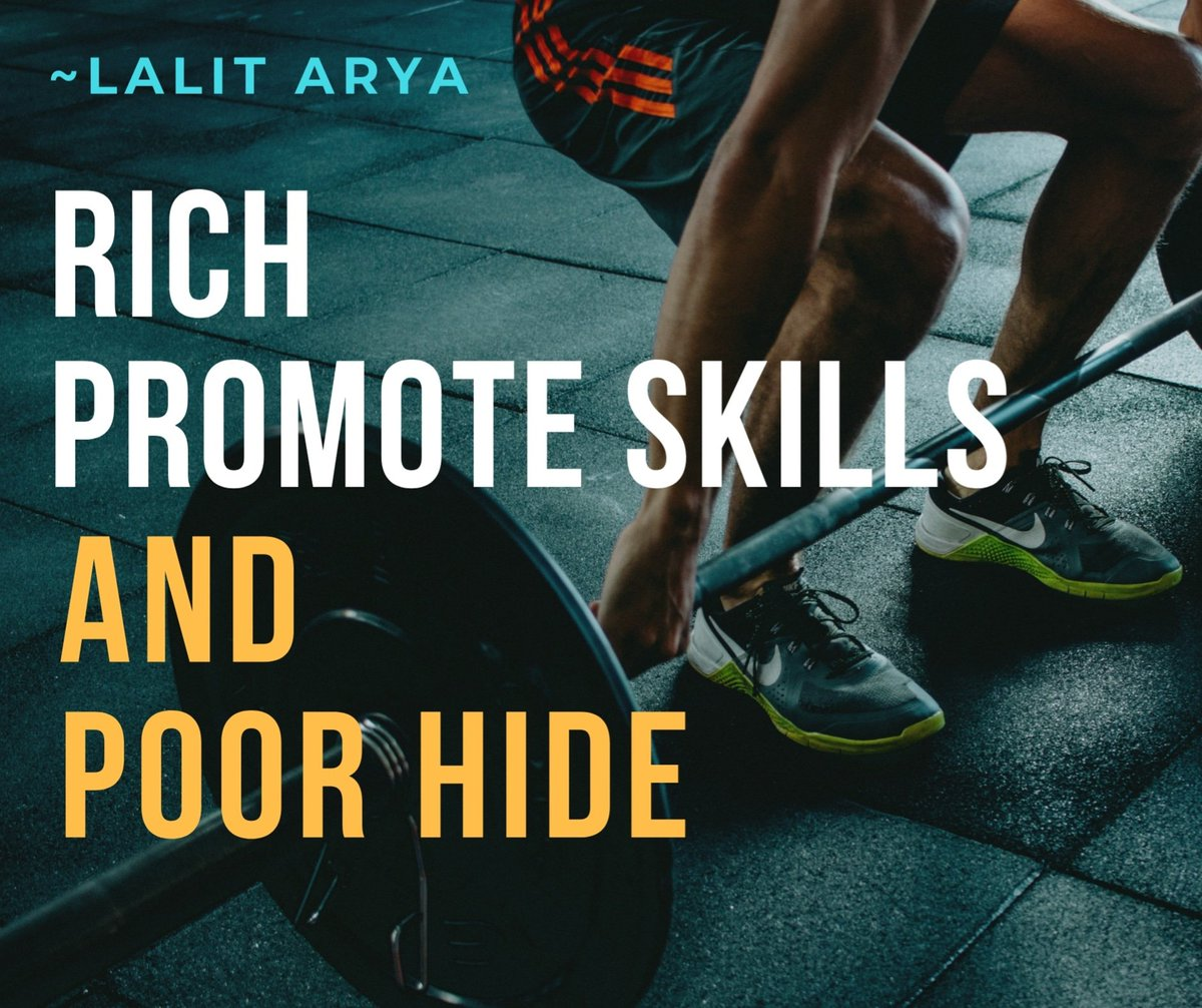#Promote yourself to become 💰#Rich.  If you want to be rich, you have to promote your 🏹signature skill, the best idea, product and services. 😩Poor hide the skills till their last breath and no one knows them.  #richthinking  #motivationalquotes  #skilldevelopment