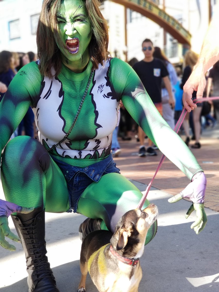 Excited to be down at #SDCC enjoying all the great geek culture!  #MarvelSDCC #SheHulk #Spiderman