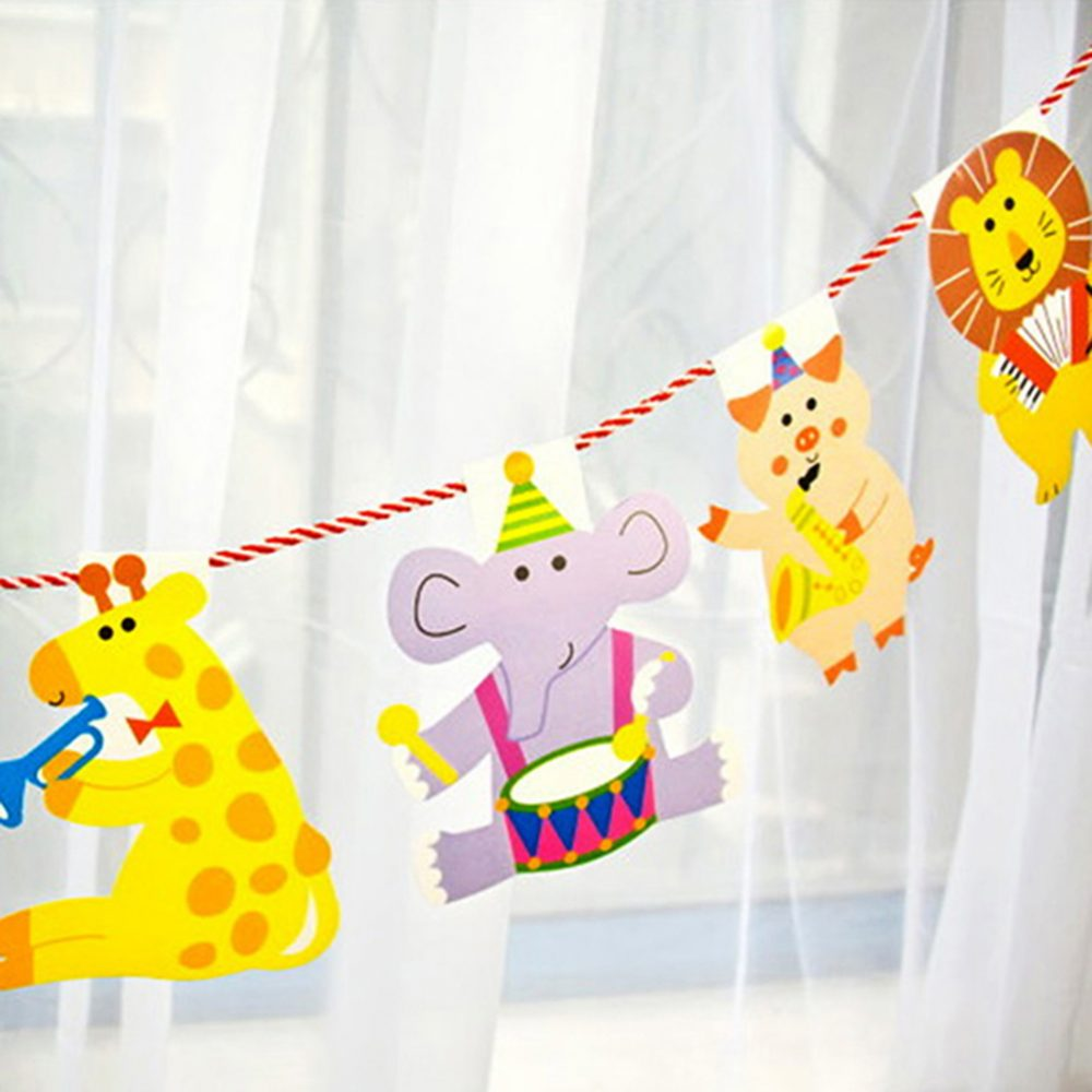 Animals Patterned Garland for First Birthday Party Decoration #birthday #mothersday <br>http://pic.twitter.com/MR8gBr38Ys