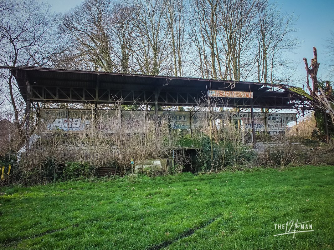 This abandoned stand belongs to Sportlaan Stadium in Tongeren, Belgium. Left alone since 1969 (!). At WW2 this stadium was used for a razzia by the Germans during the derby. The love for football was too big. Many never returned. A black page in history of this ground.  #History