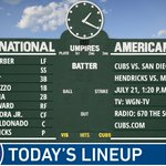 Here is today's #Cubs lineup for the homestand finale! #EverybodyIn  Game preview: https://t.co/FuBgFftoK7