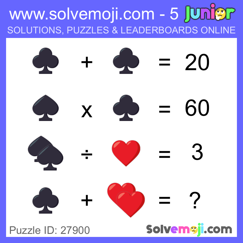 Start math class today with a Solvemoji puzzle as a warmup