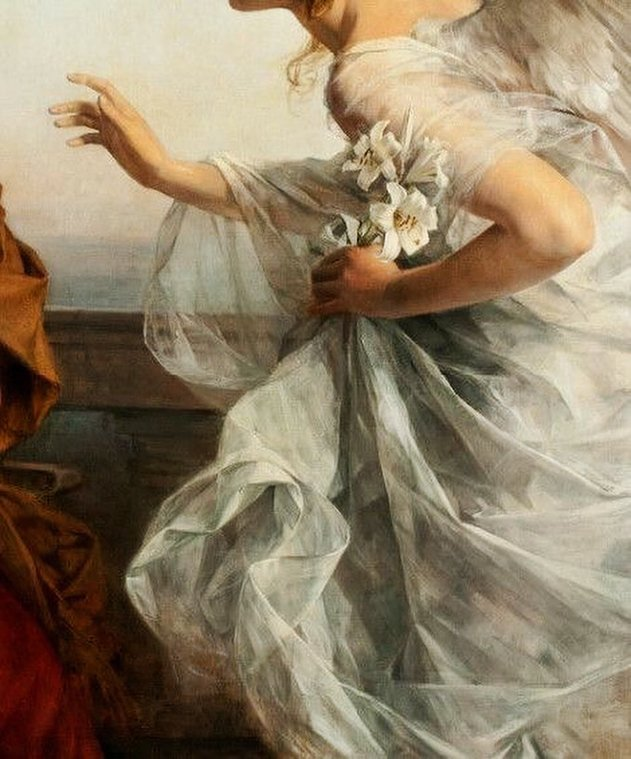 'Ave Maria', detail, by Rudolf Bacher (1862 - 1945). https://musetouch.org/?cat=5 #musetouch #paintings #details #history #imagination #inspiration #art