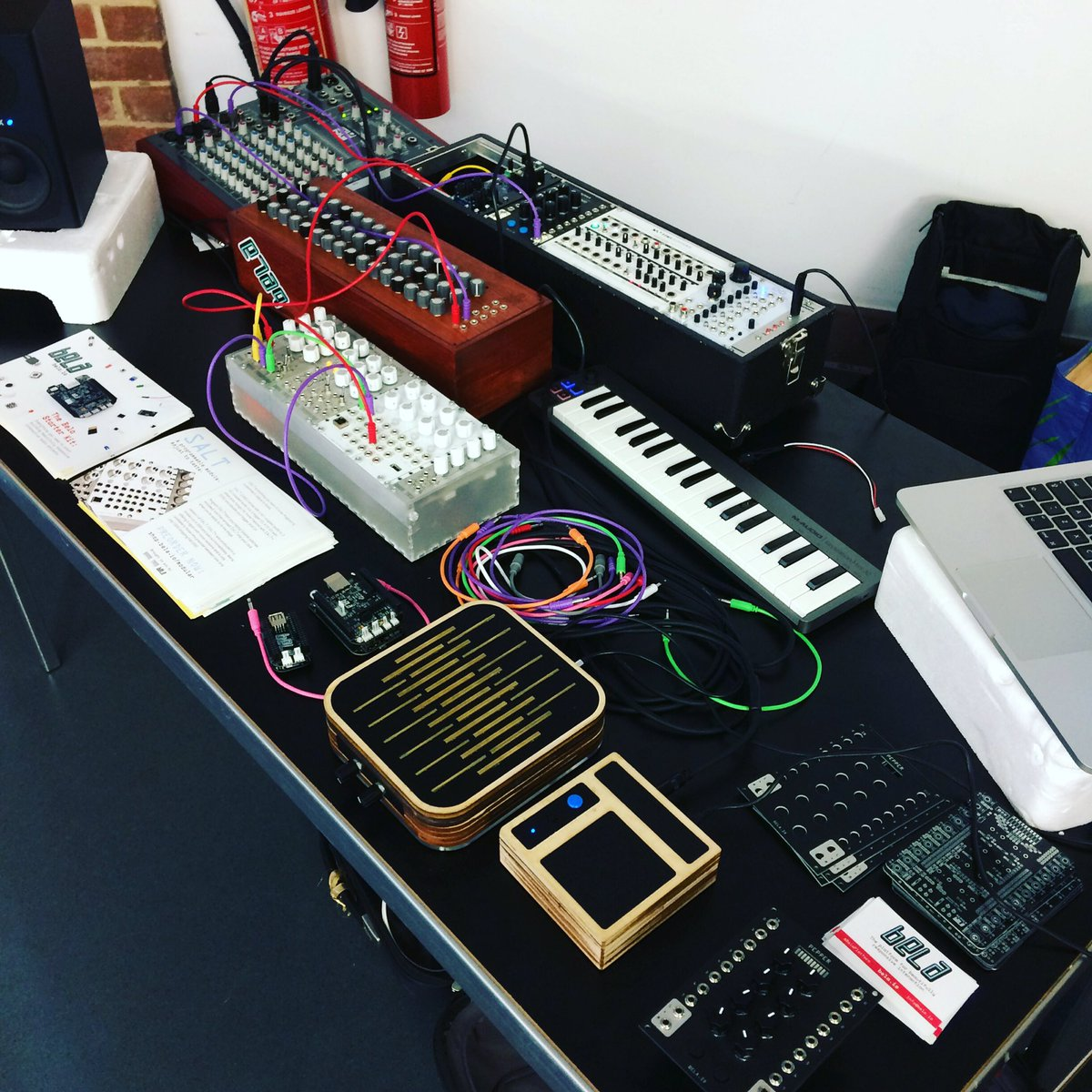 @BrightonModular what a day with a whole host of Bela @beagleboardorg synthesisers and sound makers! #eurorack #opensource #diy #synth @HashtagPureData
