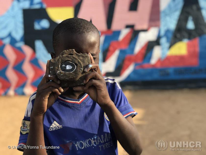 David wants to be a photojournalist when he grows up. So he made his own camera out of clay. 📸  Refugees like him deserve the chance to tell their own stories around the world.
