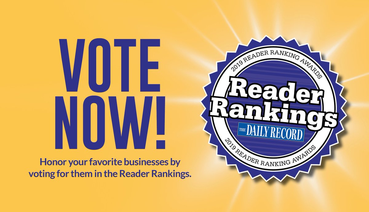 You don't have to wait until 2020 to vote! Vote for us now!  2019 Daily Record Reader Rankings Best Law Firm-Medical Malpractice Best Law Firm-Personal Injury Best Law Firm-Civil Litigation https://thedailyrecord.com/reader-rankings/… #readersrankings #vote #readerschoice