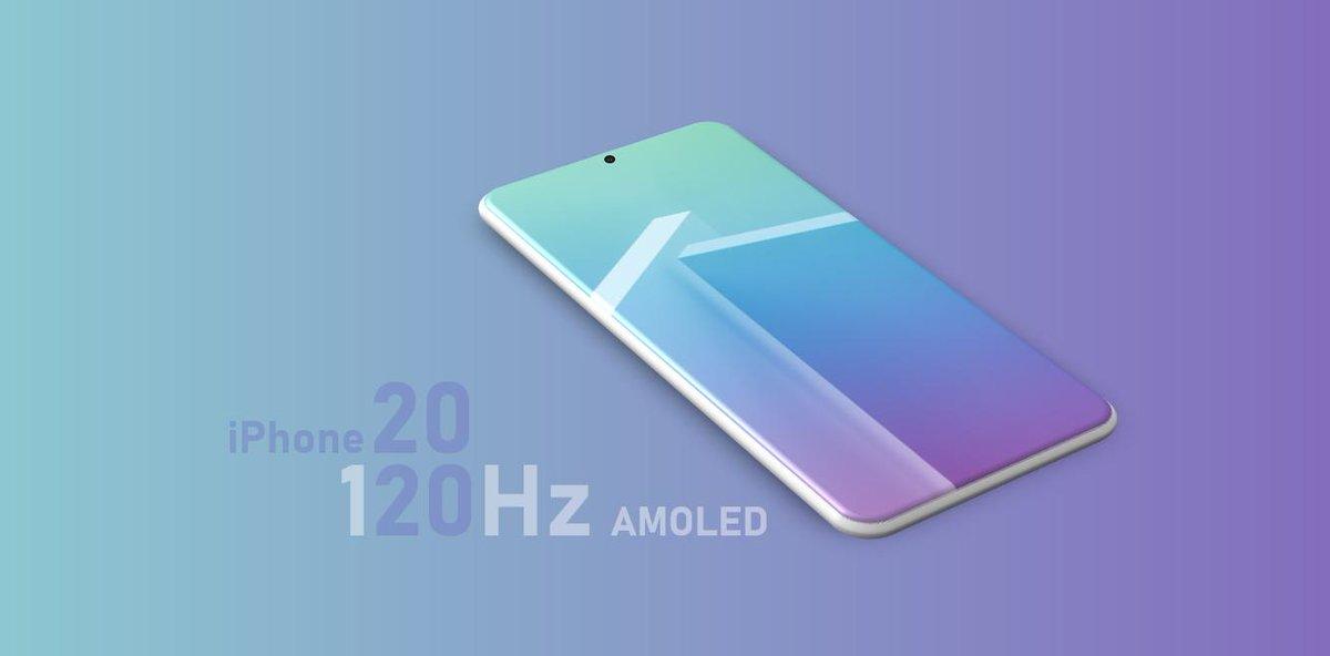 أجهزة الايفون القادمة في 2020 قد تأتي مع شاشة بمعدل تحديث يصل إلى 120Hz بحيث هناك محادثات تدور بين ابل وسامسونج و LG.. وفقًا للمسرب Ice universe