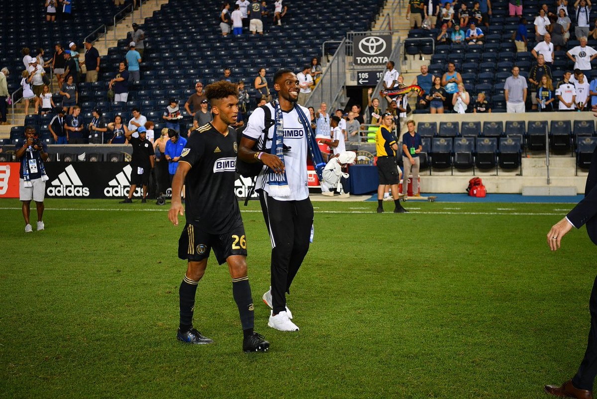 Great to see some of our @NovaMBB family supporting the @PhilaUnion in last night's win  #PhilaUnite