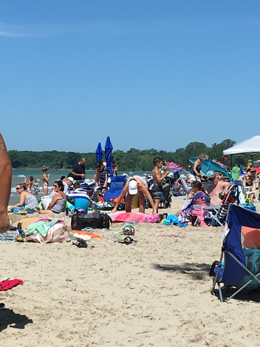 Gorgeous beach day! It's busy with lots of people so keep your little ones close especially while in the water.