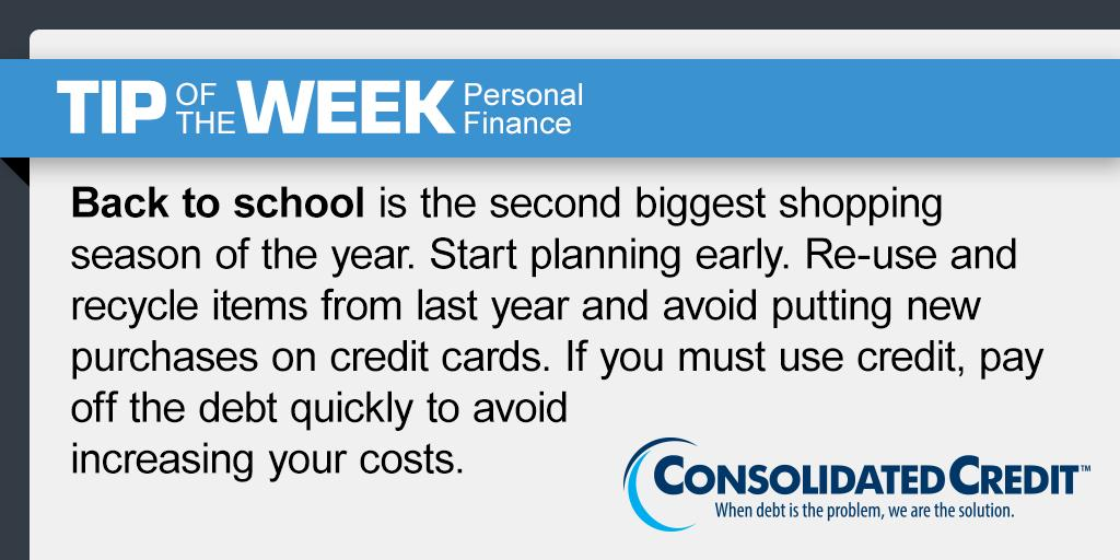 #Tip of the Week #Contest Share, retweet weekly #tips for your chance to #win $50 in the monthly drawing. #DebtSucks General Contest Rules: ow.ly/Xk5l30l22ok ) #WINMoney💰💵 #BackToSchool #BackToSchoolShopping